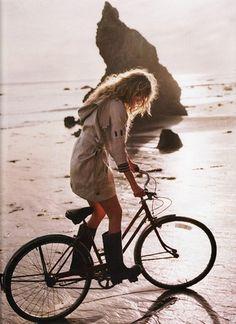 Bike on the beach.