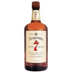 Seagrams 7 Crown Whiskey. I don't drink this anymore but it reminds me of my grandfathers mini bar.