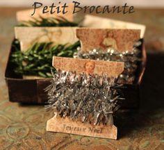 Christmas garland cards, dollhouse miniature, scale 1:12. Petit Brocante, 2013