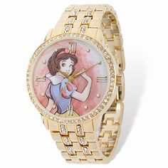 Disney Snow White and Prince Women's Alloy Case Watch, Gold CZ Bracelet Disney Up, Disney Belle, Tinkerbell, Winnie The Pooh, Pandora, Disney Jewelry, Sea Glass Jewelry, Jewelry Tray, Bead Jewelry