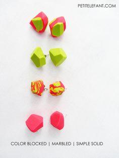 Easy geometric earrings.