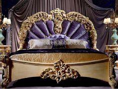 Muebles de Dormitorio de lujo, Conjunto de Muebles de dormitorio, antigua Cama…