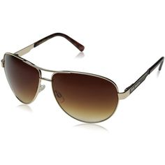 Steve Madden Women's S5641 Aviator Sunglasses ($42) ❤ liked on Polyvore