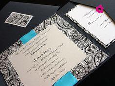 Convite de casamento com fundo trabalhado