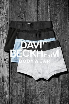 Boxer shorts 3-pack: black, light blue, and gray. Bodywear Selected By Beckham collection. | H&M For Men