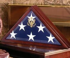 American Burial Flag Box Large Coffin Display Case