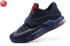 Denim Blue Red 150303-004 Nike KD VII Mens On Cyber Monday QIW0QO