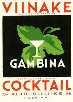 Oy Alkoholiliike Ab:n väkevät etiketit Old Ads, Helsinki, Product Design, Finland, Nostalgia, Cocktails, Abs, Graphic Design, Pictures
