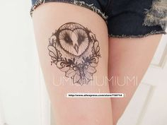 Feminine Owl Tattoos | Waterproof tattoos original male female owl flower arm ,TTI04(China ...