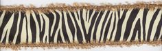 2In Tan Furry Edged Zebra Print Wired Ribbon by countrycroppers, $1.74