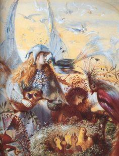 John Anster Fitzgerald's Fairies and a bird's nest