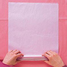 Pompon en papier, étape 1