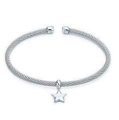 Tiffany & Co Outlet Somerset Star Dangle Cuff- I think this will be the next gift I give! Tiffany Jewelry Outlet, Tiffany And Co Outlet, Cuff Jewelry, Pandora Jewelry, Love Bracelets, Bangles, Tiffany Bangle, Fashion Jewelry, Women Jewelry
