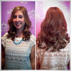 Stylist, Lindsay Capps, created 10 inches of length on her guest using @hotheadshairextensions!  #freshairsalon #freshairstylist #hotheads #extensions #longhair #fayettevillear #fayettevillesalon @mommycapps3