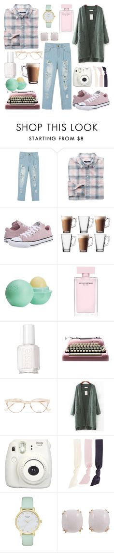 """""""sunday morning"""" by bellafantasy03 ❤ liked on Polyvore featuring WithChic, GANT, Converse, Eos, Essie, Cutler and Gross, Fujifilm, Splendid, Kate Spade and Seaman Schepps"""