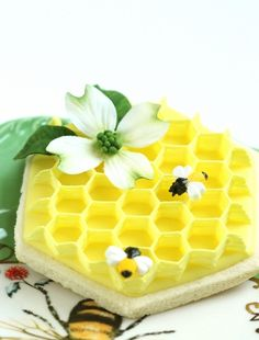 I will never make this, but...wow: Dogwood Flower Cookies, an Icing Honeycomb How-to.