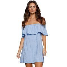 Sexy-Women-Boho-Frill-Ruffle-Sleeve-Off-Shoulder-Mini-Dress-Party-Beach-Dress