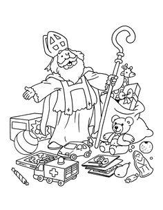69 Beste Afbeeldingen Van Sinterklaas Kleurplaten In 2018 Saints