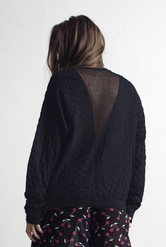 SWEATER ABI QUILT & NET BLACK | More colors + in the group All items / Sweaters at Rodebjer Form AB (1210033999)