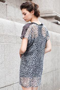 #Romwe Leopard Chiffon Dress