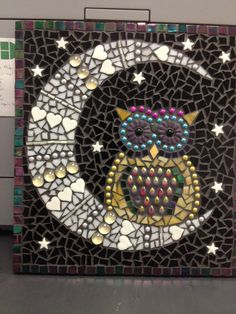 Mosaic owl wall art by NorthLakeMosaics on Etsy https://www.etsy.com/listing/210621791/mosaic-owl-wall-art