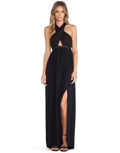 vestido largo Halter-negro