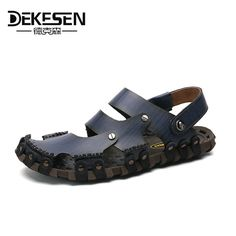 970d6b5020fe7c Men s Sandals · Dekesen Soft Leather Beach Sandals for Men
