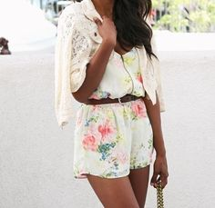 Flowered romper