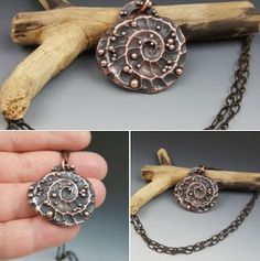 Copper electroformed on Polymer Clay