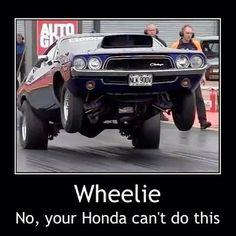 Wheelie! No, your Honda can't do this