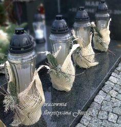me ~ florystyka żałobna dekoracje nagrobne - Grave Flowers, Church Flowers, Funeral Flowers, Funeral Flower Arrangements, Floral Arrangements, Ikebana, Flower Decorations, Diy And Crafts, Christmas Wreaths
