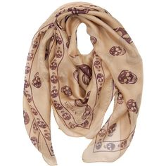 Alexander McQueen Schal Skull Beige Purple (13.245 RUB) ❤ liked on Polyvore featuring accessories, scarves, alexander mcqueen, sciarpe, аксессуары, women, skull scarves, alexander mcqueen scarves, purple scarves and purple shawl