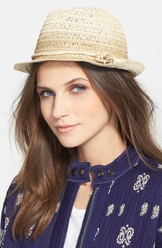 Hinge Metallic Straw Trilby available at #Nordstrom