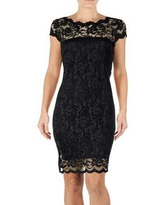 Scalloped Lace Sheath Dress