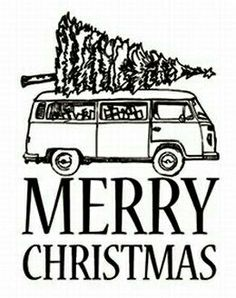 Coing home for Christmas in a VW Camper filled to the brim with pressies - what more could you want? Merry Christmas one and all! Volkswagen Transporter, Volkswagen Bus, Vw T1, Vw Camper, Christmas Makes, Christmas Signs, Xmas, Merry Christmas, T6 California
