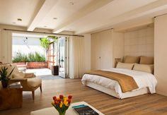 modern bedroom furniture sets - closets around the bed