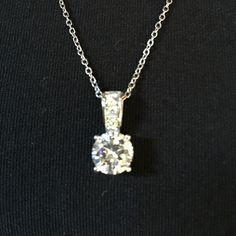 Swarovski Solitaire-Pendant Necklace Swarovski Pendant purchased from Dillards. Swarovski Jewelry Necklaces