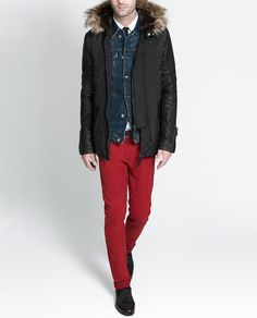Image 6 of HOODED PARKA from Zara