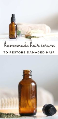 Learn how to make a nourishing hair serum with this simple recipe using nettle tea, essential oils, and aloe. #hairsreum #naturalhaircare