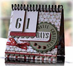 scrapbook christmas countdown calendar | Ohhhhhhhhhhhhhhhh Love this. Great idea for desktop.... Fits so nicely ...