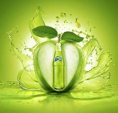 Fanta de maçã verde