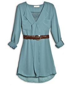 @_Costablanca Belted dress shirt #spring2013 #shirt