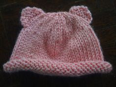 You can use this pattern to make a simple cute beanie, or be adventurous and add bear ears. I added a unique way to add ears. Instead of attaching to hat or by picking up stitches, you simply use the bars between the stitches to continue knitting. In the pattern, there are pictures to guide you.