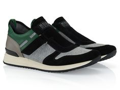 Hogan Rebel R218 Suede sneakers with fabric panels - Italian Boutique €189