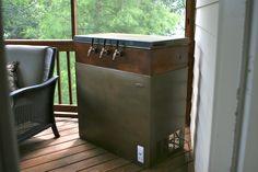 Keezer build - white chest freezer painted