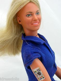 "1976 Kenner Bionic Woman Doll 12"" Action Figure Six Million Dollar Man Series,, I had her.. Glen had the Bionic Man"