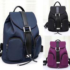 Womens Waterproof Nylon Handbag Rucksack Schoolbag Travel Backpack Shoulder Bags