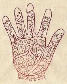 Henna Hand design (UT2587) from UrbanThreads.com