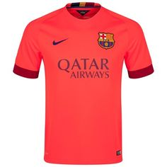Barcelona 2014/2015 Away Shirt (Red). Available from Kitbag.com