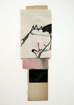 iris schwarz - gouache + collage - king